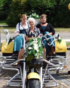 Trike-Hochzeit in Torgau