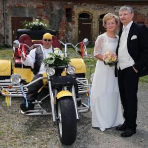Hochzeit mit dem Trike