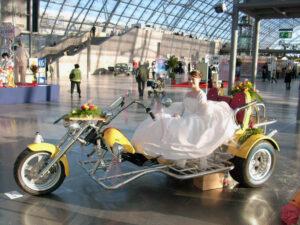 Mit dem Trike zur Hochzeit
