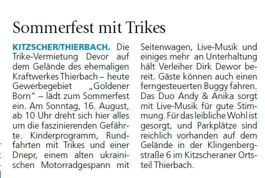 Sachsen Sonntag Borna / Geithain, Ausgabe 15/16.08.2020, S.9